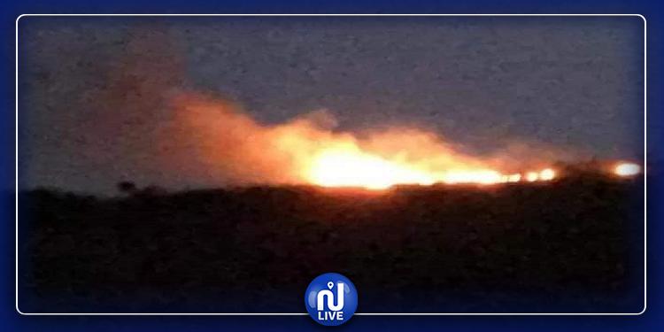 السيطرة على حريق في جبل النحلي