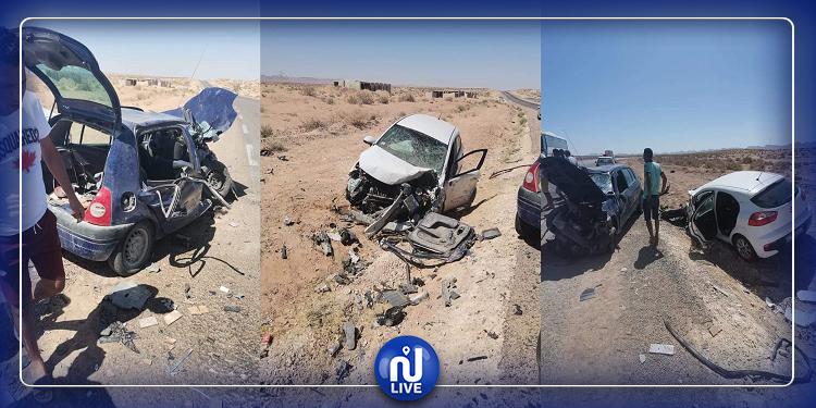 اصطدام 3 سيارات: حادث مرور مروّع في قابس