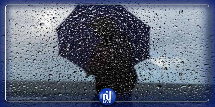 انخفاض درجات الحرارة  ونزول الأمطار