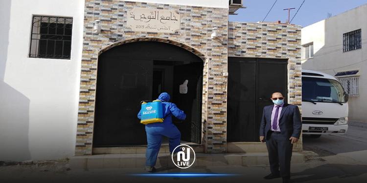 غلق مسجد التوحيد بحي التضامن