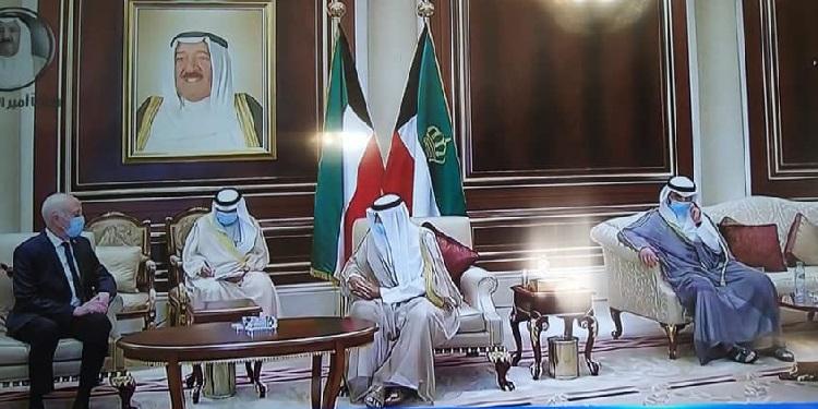 قيس سعيّد يصل الكويت لتقديم واجب العزاء