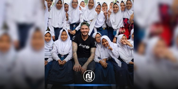 في اليوم العالمي للفتاة: بيكهام يعلن دعمه للفتيات بنشر صورة مع محجبات