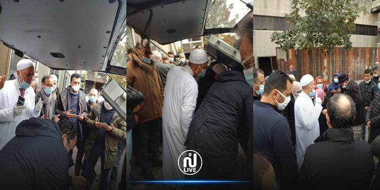 جثمان بوعلي المباركي يغادر مستشفى ''بيشا كلود برنارد'' بباريس