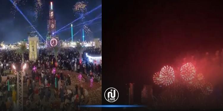 الإمارات تستقبل العام الجديد 2021 بعروض الليزر والألعاب النارية