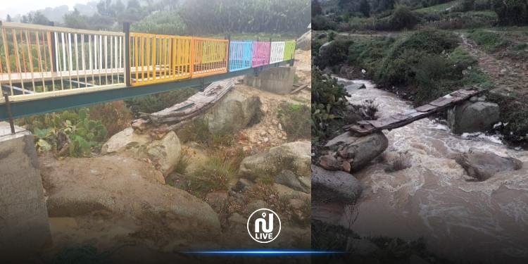 جندوبة: الشاب كريم عرفة يشيد جسرا ليسهل عبور التلاميذ (صور)