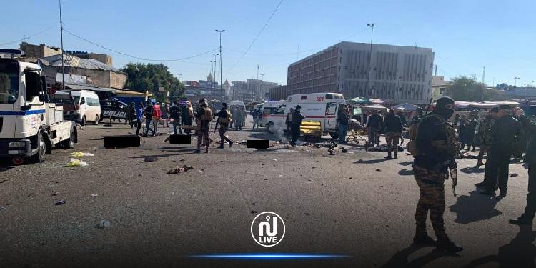 9 قتلى و15 جريحا في تفجير انتحاري مزدوج وسط بغداد