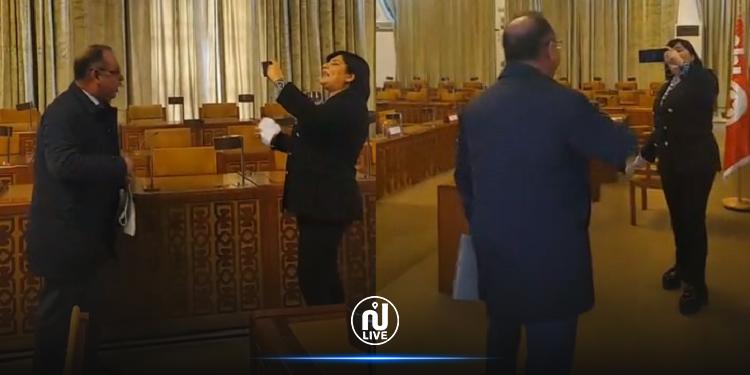 مناوشات كلامية حادة بين مبروك كرشيد وعبير موسي (فيديو)