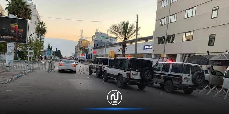 غلق جميع منافذ شارع خير الدين باشا