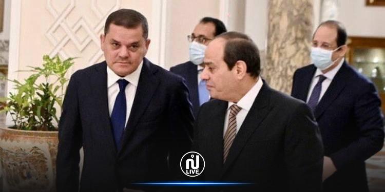السيسي للدبيبة: مستعدون لتنفيذ المشاريع التنموية في ليبيا
