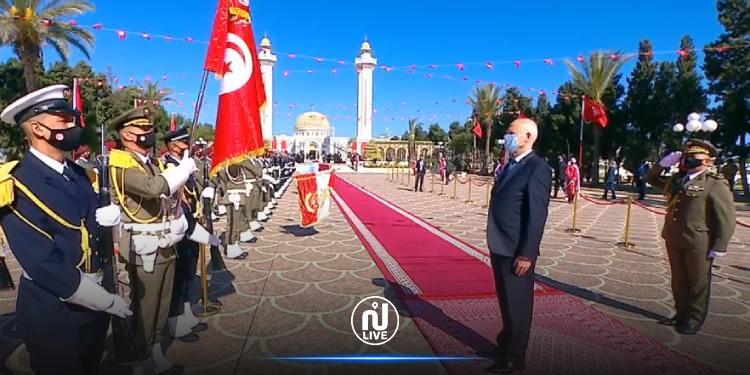 قيس سعيد يحيي الذكرى 21 لرحيل الرئيس الحبيب بورقيبة