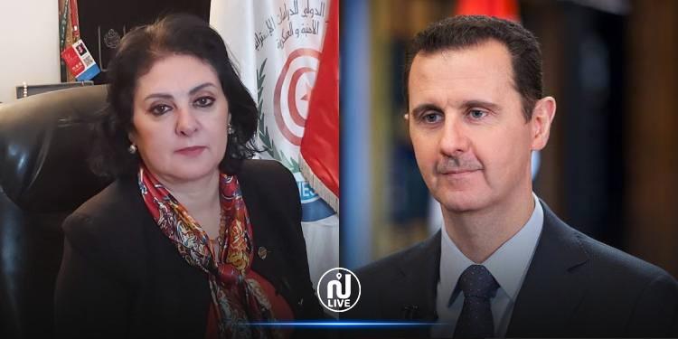 بدرة قعلول: أبكي فرحا بفوز بشار الأسد بالانتخابات