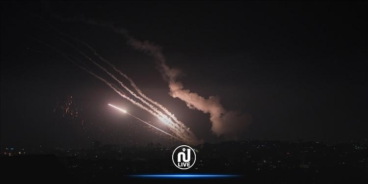 إطلاق نحو 150 صاروخا من غزة مساء اليوم