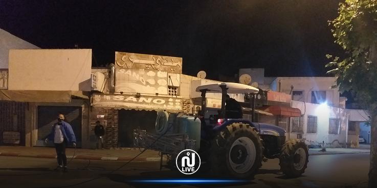 بنزرت: تنفيذ حملة تعقيم ليلية واسعة بمنطقة منزل بورقيبة