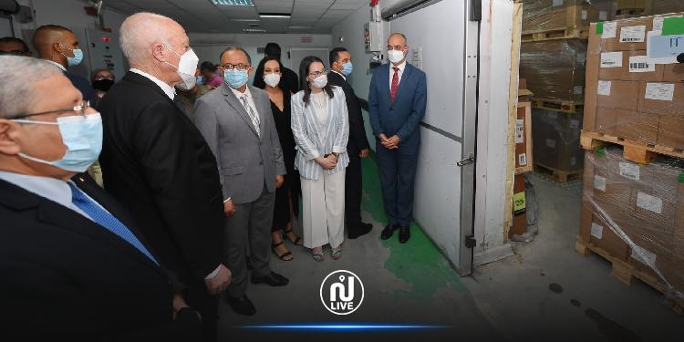 سعيّد يشرف على عملية تسلم مليون و500 ألف جرعة تلاقيح  ممنوحة من إيطاليا