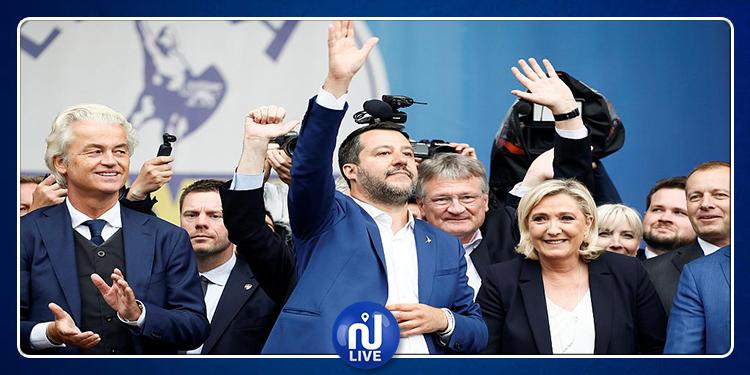Milan: Matteo Salvini et Marine Le Pen au sommet des extrêmes