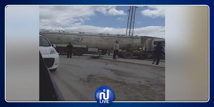 Drame à Mégrine: collision entre 2 camions et 1 un bus (Vidéo)
