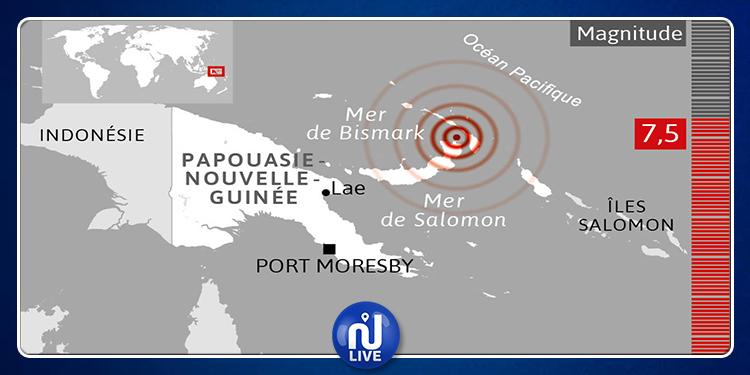La Papouasie Nouvelle-Guinée  frappée par un séisme de magnitude 7,2