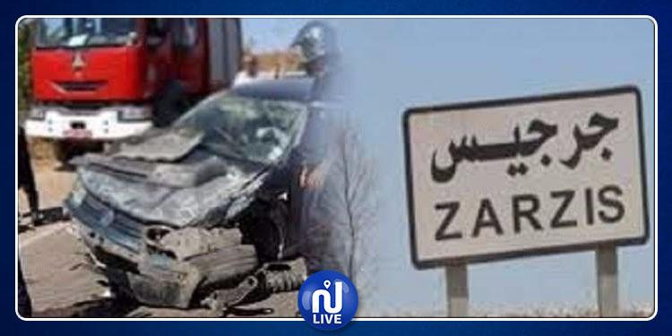 Zarzis : collision entre 2 voitures…2 morts et 3 blessés