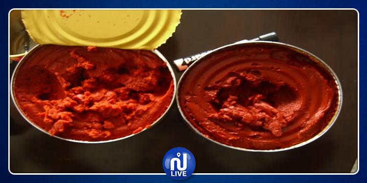 Nabeul: saisie de boites de conserve de tomate périmées…