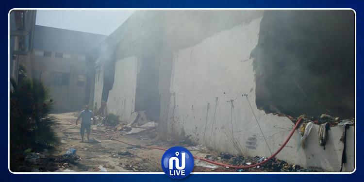 Incendie à Mornaguia : Les pompiers éteignent le feu (Photos)