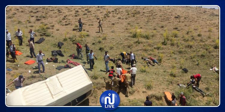 Accident d'un minibus de migrants en Turquie…17 morts
