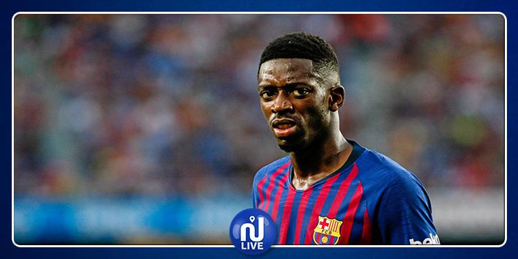 Le FC Barcelone privé d'Ousmane Dembélé durant cinq semaines