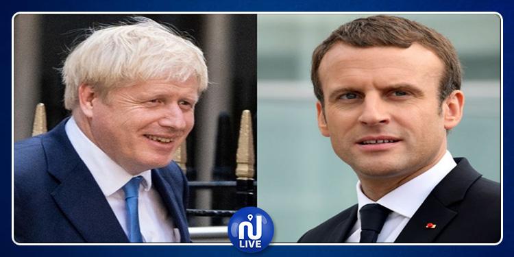 Boris Johnson rencontre Macron à Paris