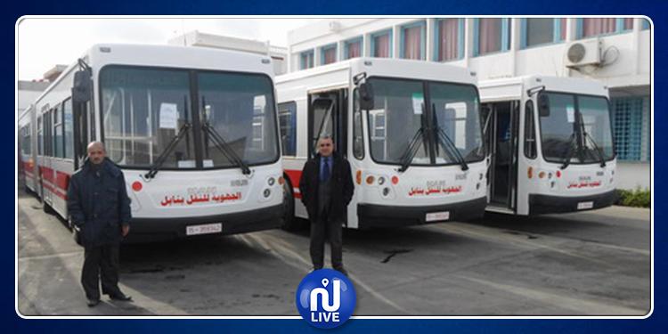 Les agents de la société de transport régionale en grève, à Zaghouan