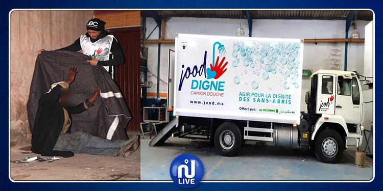 Maroc : un camion-douche pour aider les sans-abris à Casablanca...(Photos)
