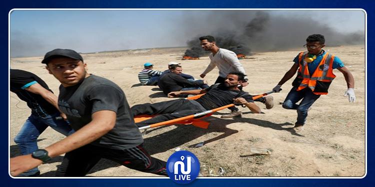 Gaza : 63 Palestiniens blessés dans des affrontements avec des soldats israéliens