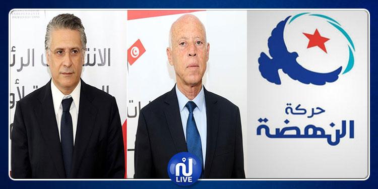 Présidentielle 2019: Ennahdha félicite Nabil Karoui et Kais Saïd