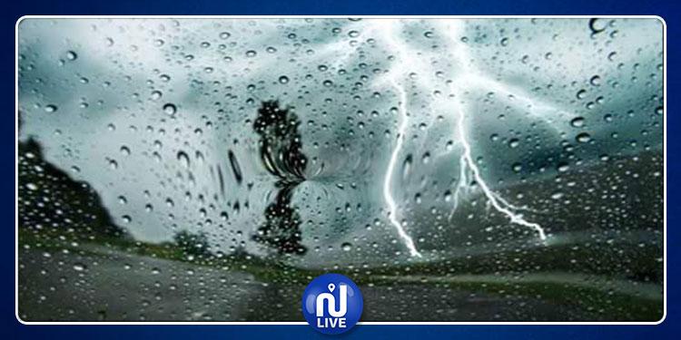 Alerte météo : Pluies temporairement orageuses dans ces régions