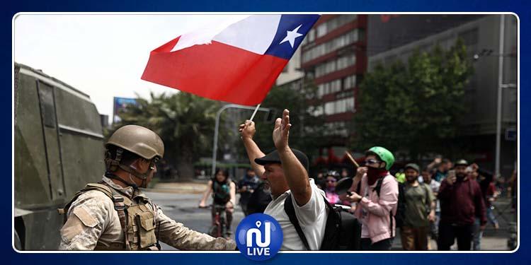 Chili : les affrontements entre manifestants et forces de l'ordre à Santiago se poursuivent