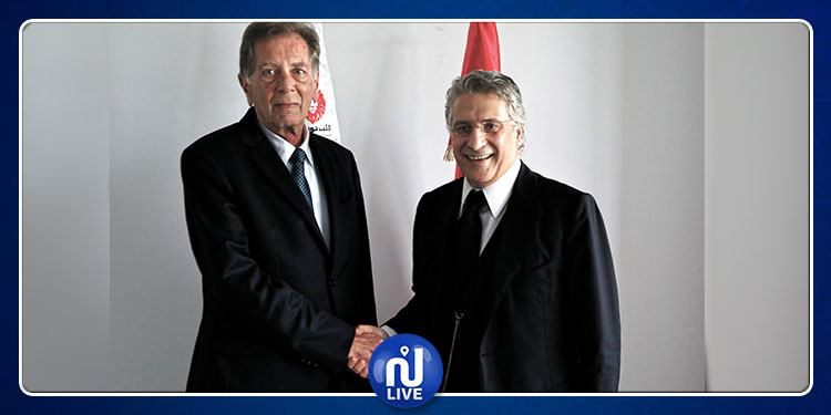 Nabil Karoui reçoit l'ambassadeur de Palestine à Tunis