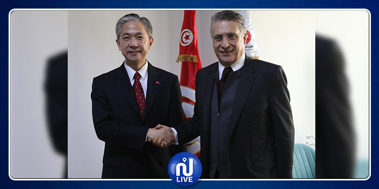 Nabil Karoui s'entretient avec l'ambassadeur chinois