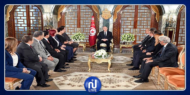 Le président de la République reçoit les membres du cabinet présidentiel