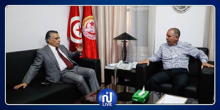 Nabil Karoui rencontre Noureddine Taboubi
