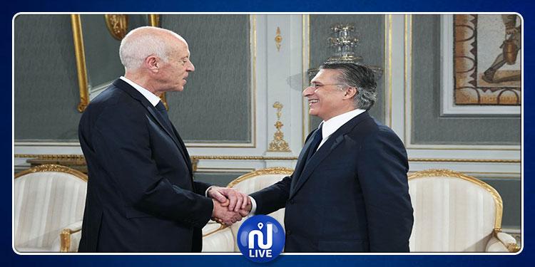 Le président de la République reçoit Nabil Karoui