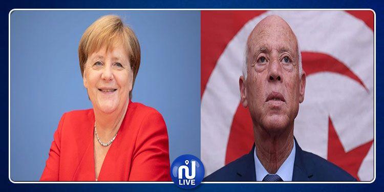 Angela Merkel félicite Kais Saied