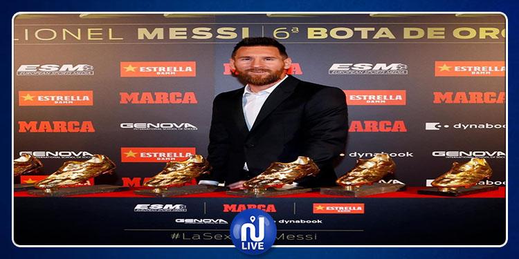 6e Soulier d'Or européen pour Lionel Messi ! (Photos)