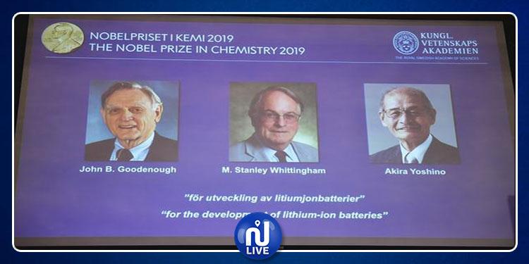 1 Japonais, 1 Américain et 1 Britannique, Prix Nobel de chimie