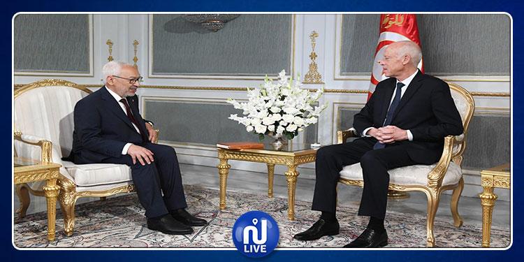 Le président de la République s'entretient avec Rached Ghannouchi