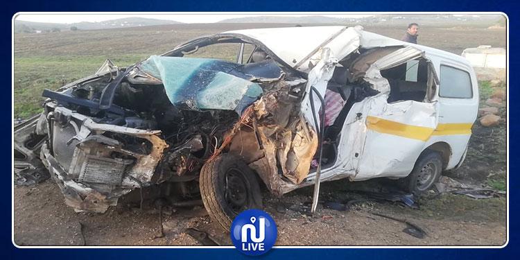 Fernana : 2 morts dans une collision entre 1 camion et 1 louage