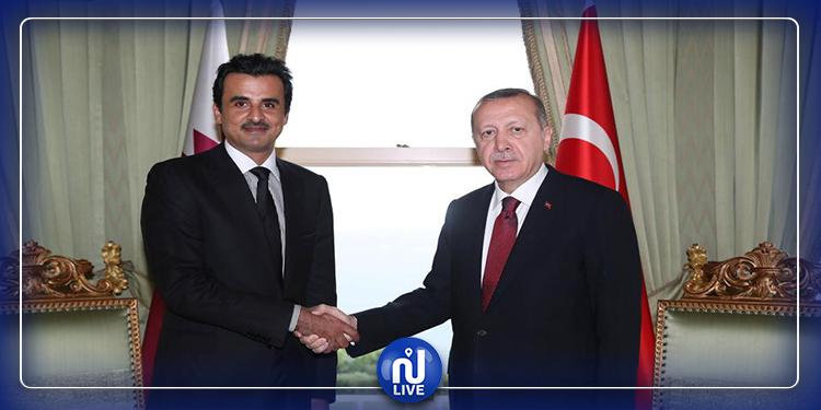 L'Emir du Qatar reçoit le président turc Erdogan