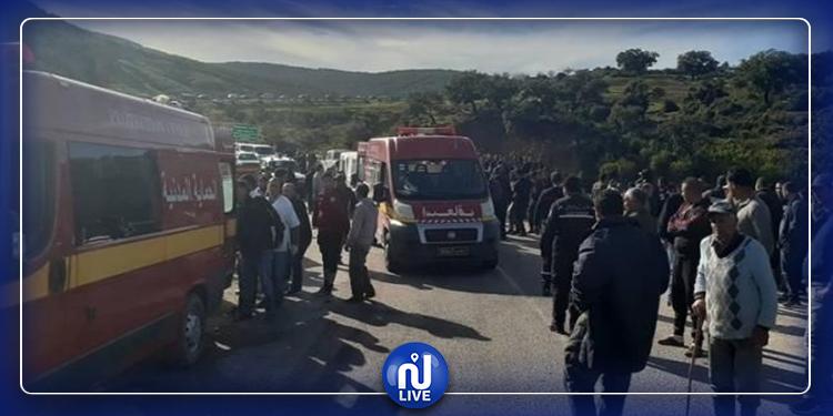 Aïn Snoussi : un camion s'est renversé, près des lieux du drame de Amdoun