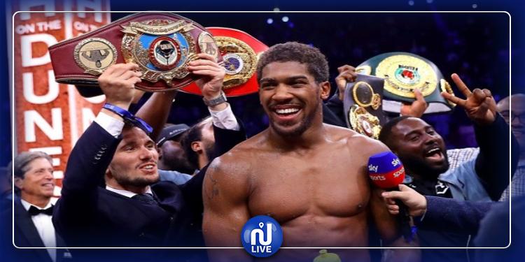 Boxe : Joshua bat Ruiz et retrouve ses 4 ceintures mondiales des poids Lourds