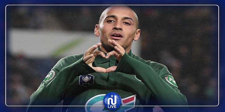 L1 : Reims-St Etienne : Wahbi Khazri hors liste !