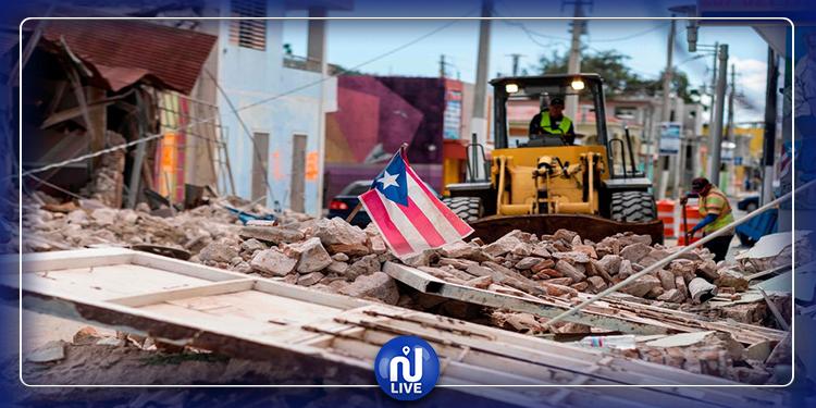 Porto Rico frappé à nouveau par un  puissant séisme