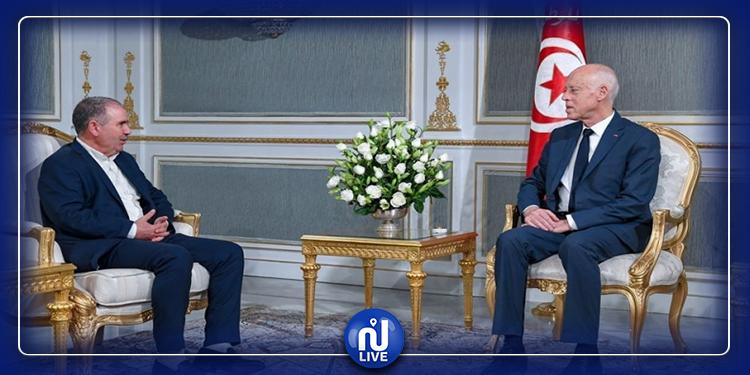 Kaïs Saïed s'entretient avec Noureddine Taboubi