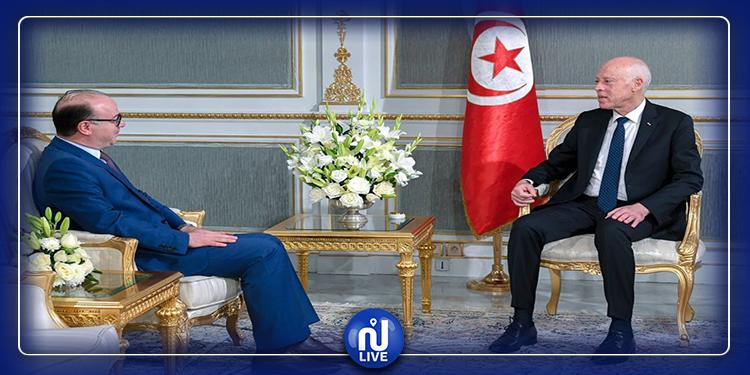 Kaïs Saïed s'entretient avec Elyes Fakhfakh